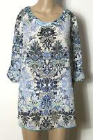 Hübsche hauchzarte Bluse 38 40 Tunika Shirt Baumwolle in weiß Gr