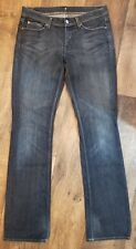 7 For All Mankind Women's Size 29 Mia Jeans Dark Wash with distressing EUC