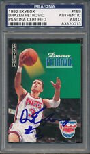 1992/93 Skybox #159 Drazen Petrovic PSA/DNA Certified Authentic Auto *0013
