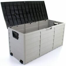 Garden Storage Box Large Deck Utility Cushion Shed Patio Garage Waterproof 390 L