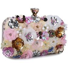 92f8050c46285 Women s Evening Bags Noble Flower Sequins Clutch Wedding Purse Pink  (Coloful)