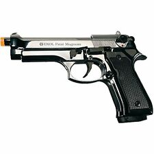 Ekol Firat Magnum 92 Replica Beretta M9 Nickel 9mm PAK Front Venting Prop Pistol