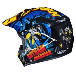 *NEW* 2021 HJC MOTORCYCLE QUAD SCOOTER MARVEL BATMAN CRASH HELMET KIDS 51-52 CM