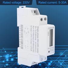 Digital LCD 220V Single Phase DIN-Rail 5-30A Electronic Energy KWh Meter hong