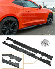 For 16-Up Camaro RS & SS | ZL1 Style ABS PLASTIC Side Skirts Rocker Panel Pair