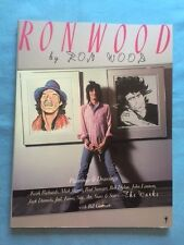 RON WOOD BY RON WOOD. THE WORKS - 1ST. AMERICAN TRADE ED.  INSCRIBED BY RON WOOD