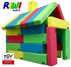 RIWI 24 Building Blocks XXL Soft Foam Blocks   Machine Washable   ASTM F963 and