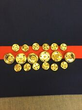 ONE SET(18) OF ANODIZED GOLD  BUTTONS FOR U.S.M.C.  Dress Blue