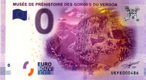 04 QUINSON Gorges du Verdon, N° de la 5è liasse, 2016, Billet Euro Souvenir