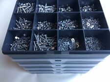 M3 Assorted Box Stainless Steel Nuts and Bolts Screws & Washers 2150 pcs A2