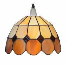 Tiffany Beige/brown 25cm Easyfit Bistro Non Electrical Pendant Shade Br2