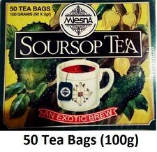 Mlesna Ceylon Soursop Pure Black Tea 50 Tea Bags 100g (3.52 Oz)