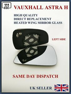 FOR VAUXHALL ASTRA H 2009-2011 FACELIFT CAR WING MIRROR GLASS CONVEX HEATED LEFT