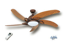 LuxVen Ventilador de techo verde Spira en 20 VARIANTES, 4,4watt + LUZ Y FB