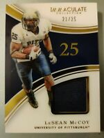 2016 Panini - Immaculate Collection No. 46 LESEAN McCOY Serial # 21/25 Game Used