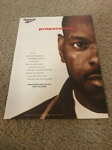 Vintage 1996 REEBOK EMMITT SMITH Poster Print Ad Basketball Shoes DALLAS COWBOYS