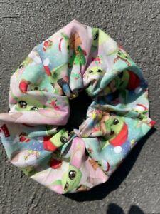 Baby Yoda Christmas Scrunchies