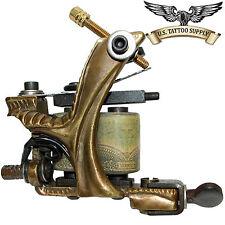 Custom Carved Brass Stick Tattoo Machine with Free 13 Mag Needle Tube Combo 10pk