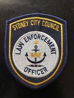 NSW SYDNEY COUNCIL LAW ENFORCEMENT AUSTRALIAN Sew On Patch Badge OBSOLETE