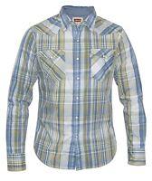 Levi's Mens Checked Shirt Blue, Green, Yellow & White
