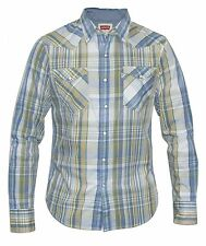 Levi's Mens Checked Shirt Blue, Green, Yellow & White
