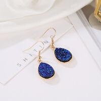 Sweet Style Drop-shaped Ear Drop Hoop Earrings Jewelry Pendant Girls Present S
