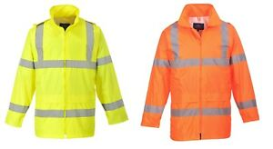 Warnschutzregenjacke Regenjacke Warn Regen Jacke Kapuze gelb oder orange H440
