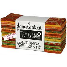 Timeless Treasures Tonga Treats Sunburst 20 Strips Six Inches Colourful Batiks