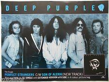 DEEP PURPLE Perfect Strangers Rare Original Official UK Record Company POSTER