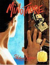 Publicité Advertising 087  1992  parfum homme Minotaure par Paloma Picasso