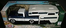 1969 FORD F-100 PICKUP w SLIDE-IN CAMPER 1:24 SCALE DIECAST METAL MOTORMAX NIB