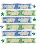 BABY BOY BANNER - Jolee's Boutique Scrapbook Craft Sticker SALE