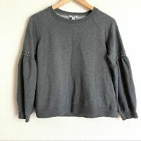 Current air studded detail balloon sleeve sweater