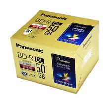 Made in Japan Panasonic Bluray BD-R 50 GB 4X Inkjet Printable Blu ray Disc x 20