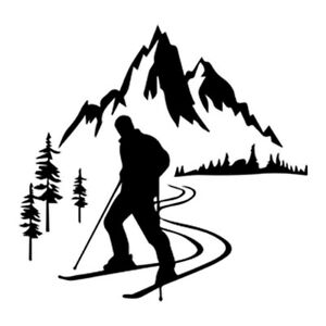 2pcs Rock Climbing Skiing Surfing Skate Board Outdoor Sports Sticker Car Decals