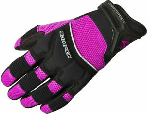 Scorpion Womens COOL HAND II Leather/Mesh Motorcycle Riding Gloves (Pink) Medium