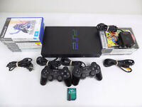 Ps2 Playstation 2 Fat Bundle Console + 2x Controllers + 15x Games + Eye Toy