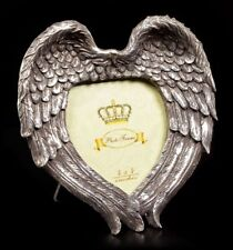 Alchemy Winged Heart Photo Picture Frame Silver Colour Gothic Wings