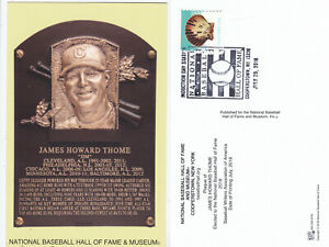 Jim Thome 2018 Hall of Fame Program/Postcard Stamped
