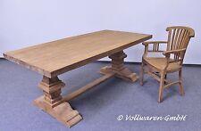TEAK KLOSTERTAFEL 200x100 Teakholz antik massiv Landhaus Esstisch Eßzimmer Tisch