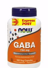 Now Foods, GABA, 750mg, 100 Capsules
