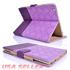 iPad 2/3/4 Luxury Suede PU Leather Flip Smart Protect Case Cover Auto Sleep Wake