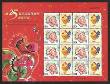 China PR 2006 25th Best Stamp Poll sheetlet unmounted mint