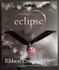 Twilight Eclipse Ribbon Crest Necklace Brand New Hot Topic OOP Retired