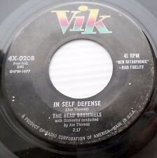 BEAU BRUMMELS not Psych band ORIG VIK 45 In Self Defense I Haven't the Heart F33