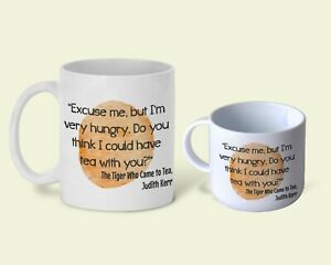 The Tiger Who Came to Tea Children's Book Quote Personalised Mug Gift