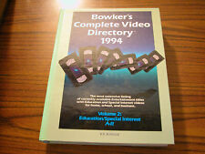 1994 Bowker's Complete Video Directory Volume 2: Education/Special Interest