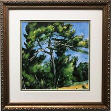 "Paul Cezanne ""The Great Pine""  Custom Framed Art Print NEW"