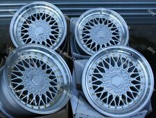 "8.5+10X 17"" SILVER G RS ALLOY WHEELS FITS BMW 5 SERIES E39 5X120 74.1 CENTRES"