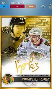TOPPS SKATE GOLD LABEL PHILIPP KURASHEV ICONIC CARD